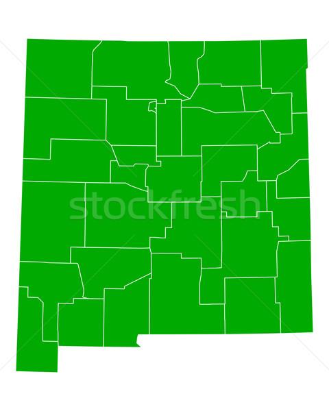 Mapa Novo México fundo verde linha vetor Foto stock © rbiedermann