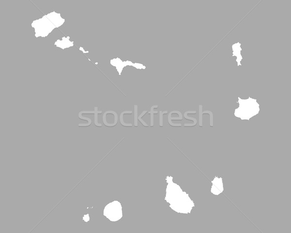 Stock photo: Map of Cape Verde