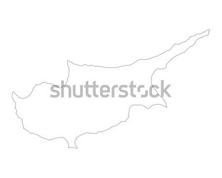 Map of Cyprus Stock photo © rbiedermann