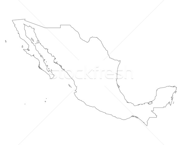Pokaż Meksyk odizolowany ilustracja Zdjęcia stock © rbiedermann