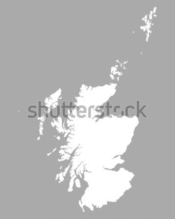 地図 スコットランド 背景 孤立した 実例 ストックフォト © rbiedermann