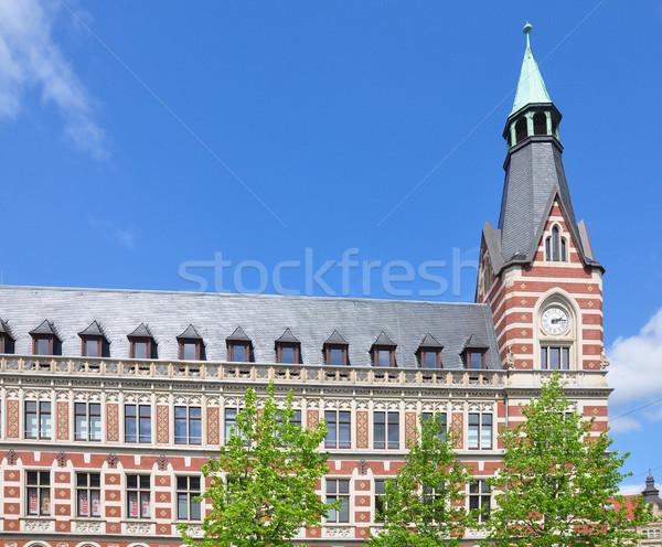 Principal correios escritório viajar torre cidade Foto stock © rbiedermann