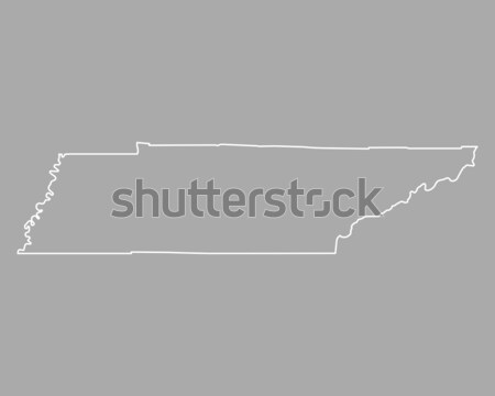 Carte Tennessee fond ligne USA illustration Photo stock © rbiedermann