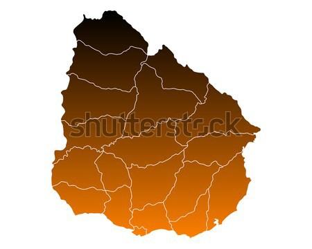 Térkép Uruguay háttér vonal vektor illusztráció Stock fotó © rbiedermann