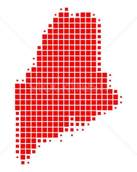 Pokaż Maine czerwony wzór Ameryki placu Zdjęcia stock © rbiedermann