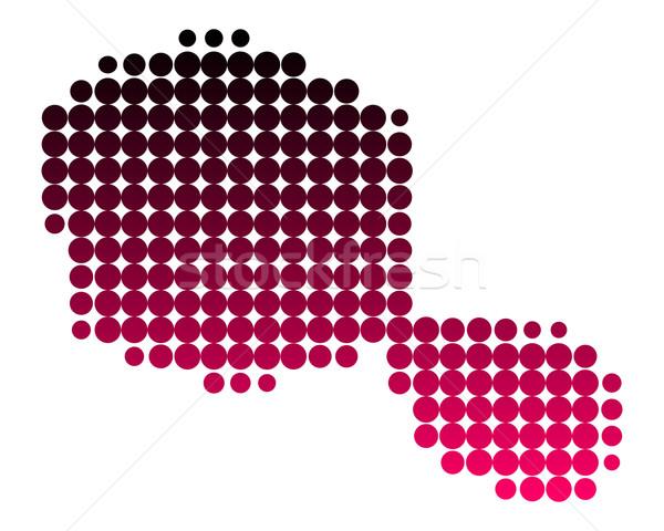 Foto d'archivio: Mappa · tahiti · pattern · rosa · viola · cerchio
