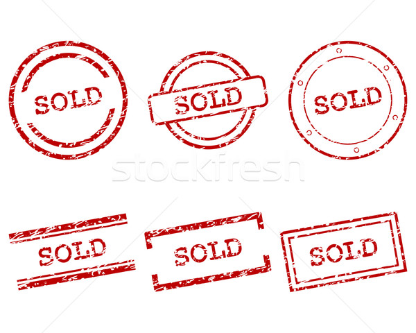 Sold stamps Stock photo © rbiedermann