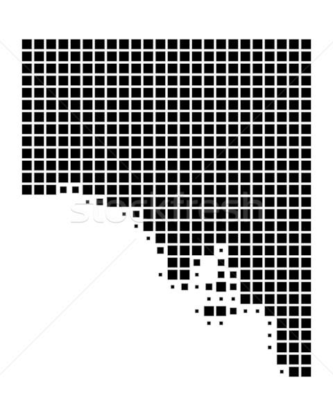 Mapa sul da austrália viajar preto padrão praça Foto stock © rbiedermann