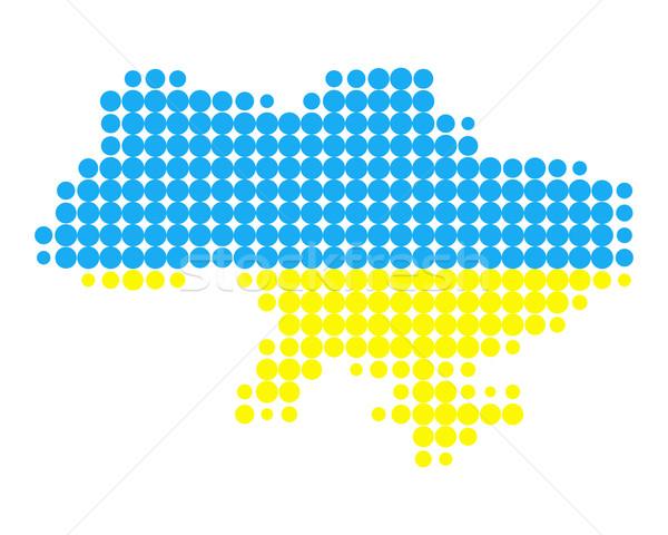 地図 フラグ ウクライナ 背景 旅行 サークル ストックフォト © rbiedermann
