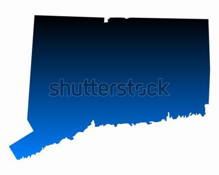 Mapa Connecticut azul viajar américa EUA Foto stock © rbiedermann