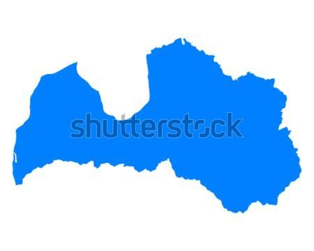 Mapa Letonia viaje vector aislado ilustración Foto stock © rbiedermann