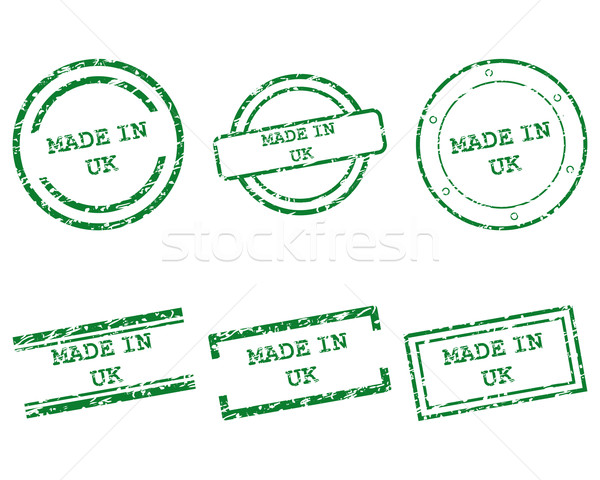 Made in UK stamps Stock photo © rbiedermann