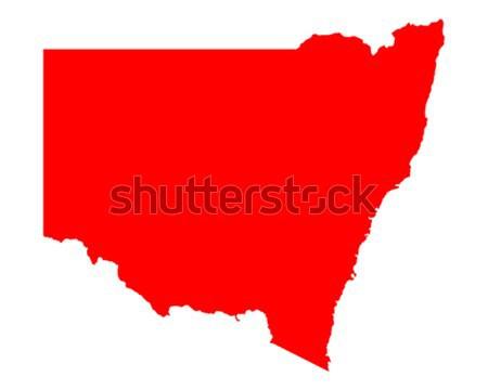 Mapa nueva gales del sur rojo vector Australia aislado Foto stock © rbiedermann