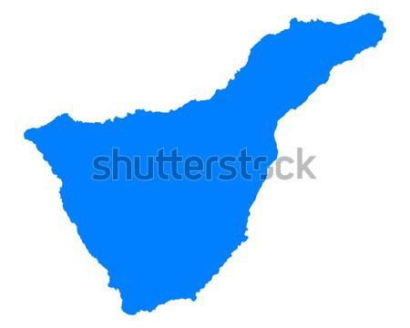 Kaart tenerife Blauw vector Spanje geïsoleerd Stockfoto © rbiedermann