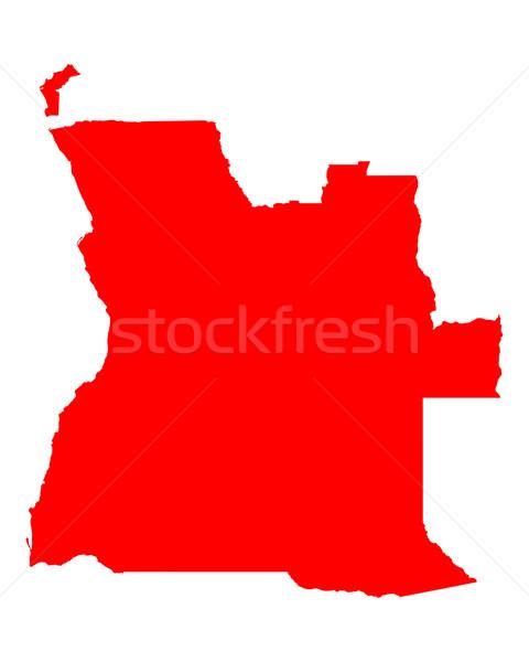 карта Ангола красный вектора изолированный Сток-фото © rbiedermann