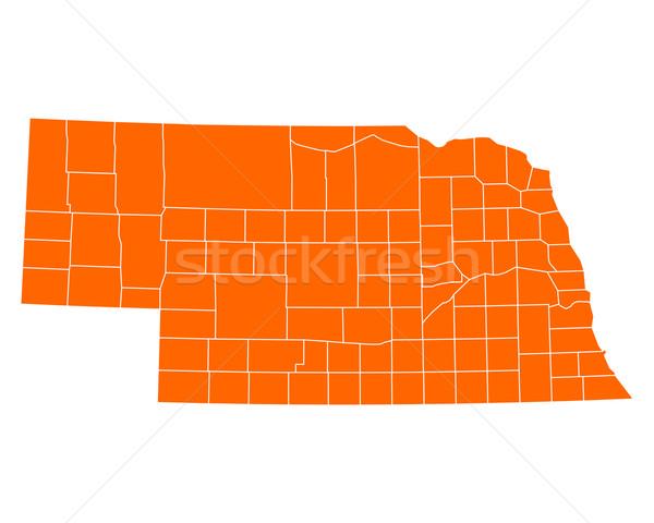 Mapa Nebraska viajar EUA isolado ilustração Foto stock © rbiedermann
