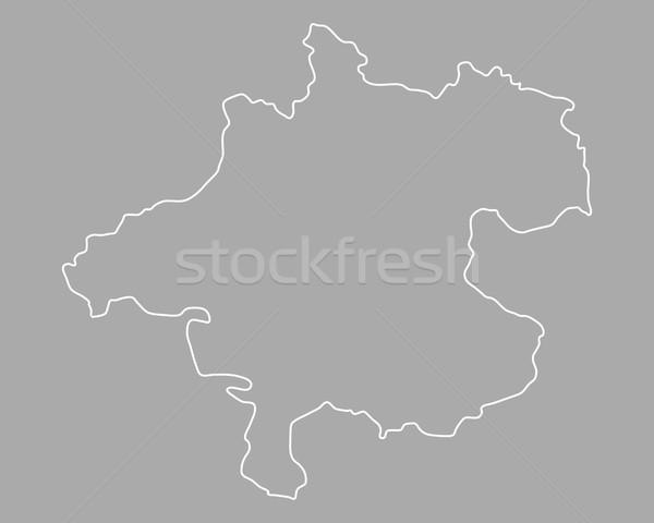 Stock fotó: Térkép · Ausztria · vektor · izolált · szürke · szürke