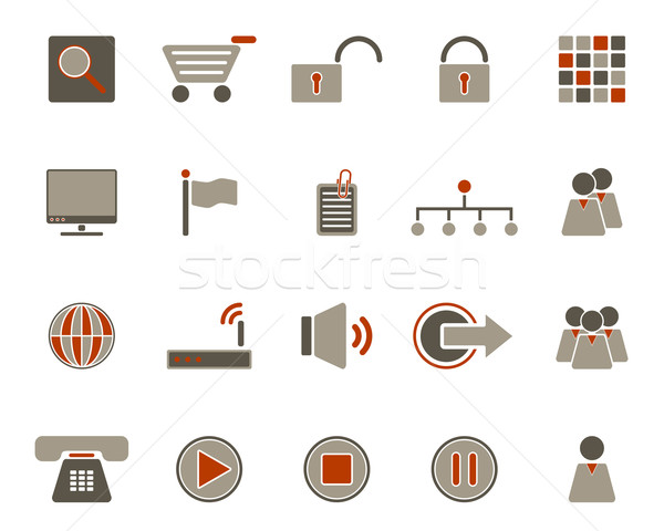 Web icons Stock photo © rbiedermann
