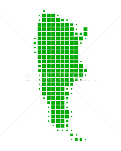 Kaart Argentinië groene patroon vierkante Stockfoto © rbiedermann