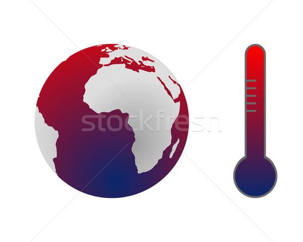 Klímaváltozás globális felmelegedés Föld kék jövő bolygó Stock fotó © rbiedermann