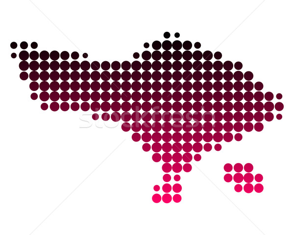 Mappa bali pattern rosa viola cerchio Foto d'archivio © rbiedermann