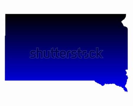 Harita Güney Dakota mavi seyahat Amerika ABD Stok fotoğraf © rbiedermann