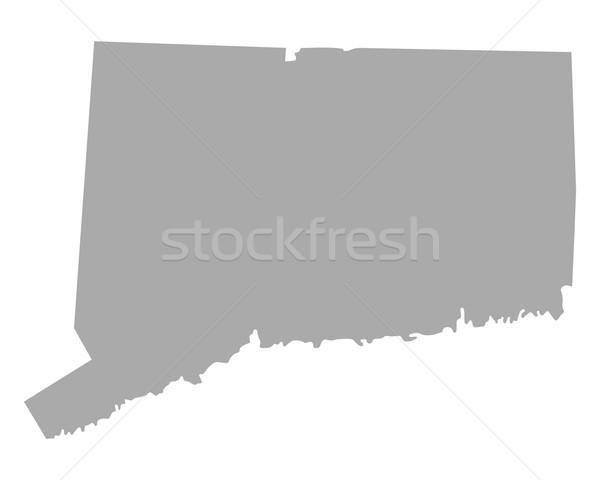 Mapa Connecticut viajar américa isolado ilustração Foto stock © rbiedermann
