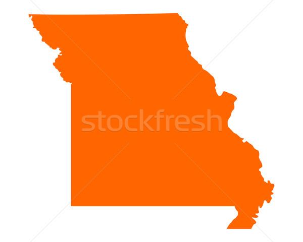 Mapa Missouri viajar américa EUA isolado Foto stock © rbiedermann