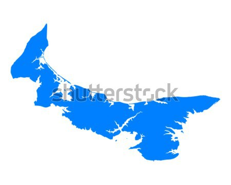 Foto stock: Mapa · isla · del · príncipe · eduardo · verde · azul · isla · vector