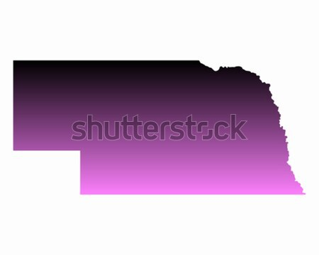 Map of Nebraska Stock photo © rbiedermann