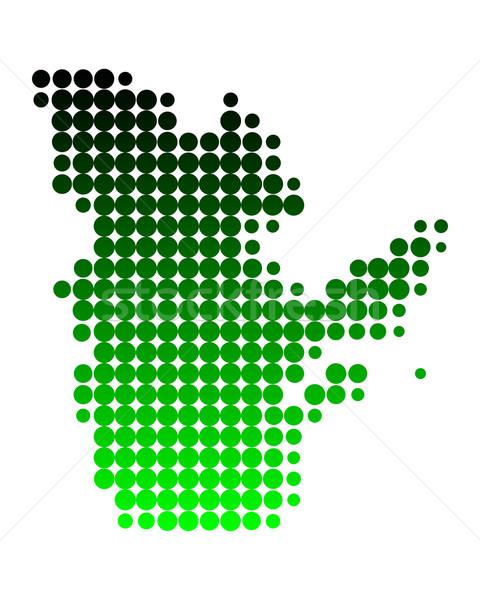 Kaart Quebec groene patroon cirkel punt Stockfoto © rbiedermann