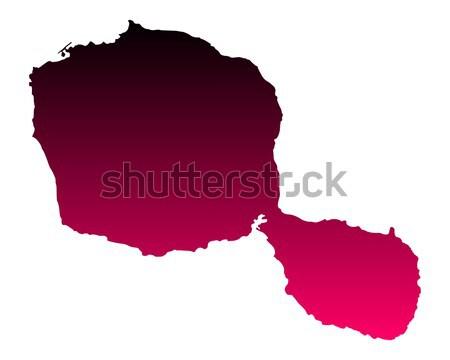карта Суринам розовый Purple вектора изолированный Сток-фото © rbiedermann