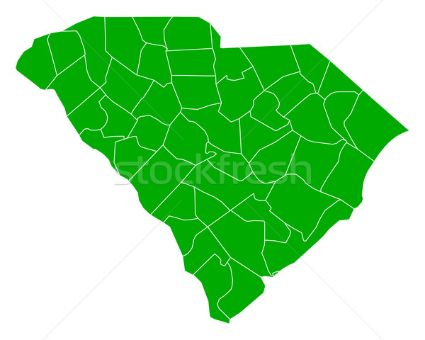 Kaart South Carolina achtergrond groene lijn USA Stockfoto © rbiedermann