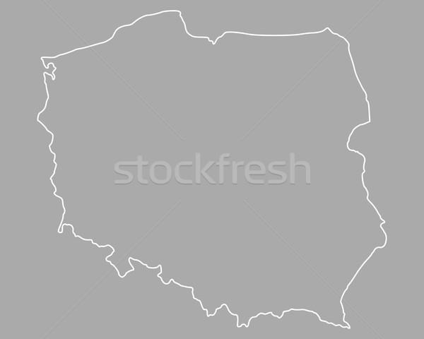 Mappa Polonia isolato illustrazione Foto d'archivio © rbiedermann