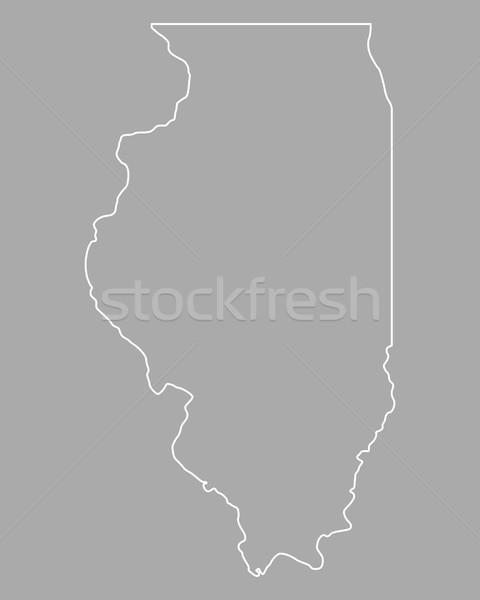 карта Иллинойс фон линия США Сток-фото © rbiedermann