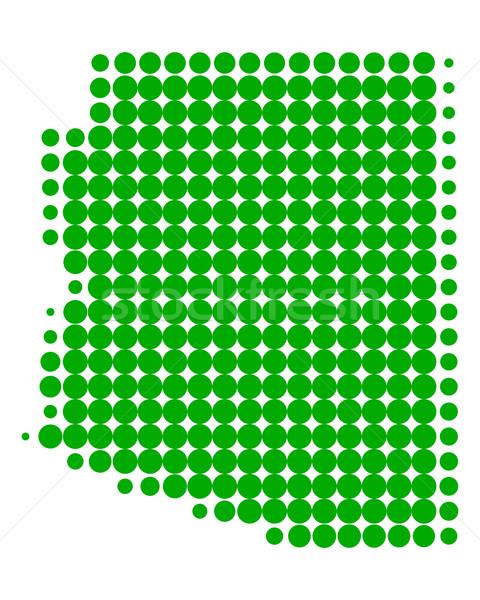 Kaart Arizona groene patroon amerika cirkel Stockfoto © rbiedermann