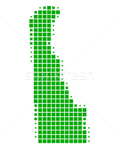 Harita Delaware yeşil model Amerika ABD Stok fotoğraf © rbiedermann