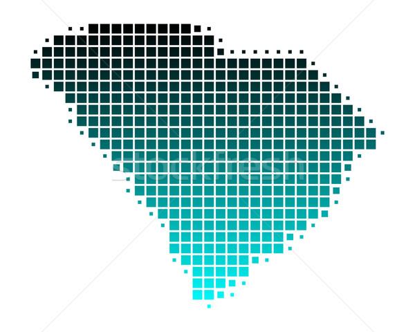 地図 サウスカロライナ州 緑 青 パターン アメリカ ストックフォト © rbiedermann