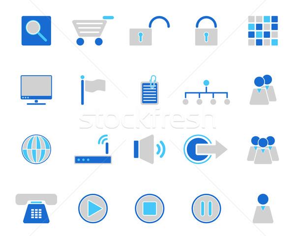 Web icons Stock photo © rbiedermann