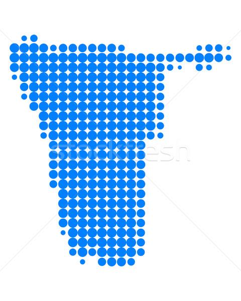 Harita Namibya seyahat Afrika model nokta Stok fotoğraf © rbiedermann