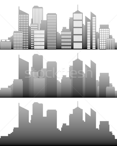 Stock photo: City skyline
