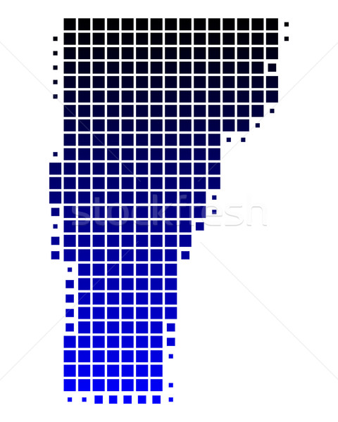 Mapa Vermont azul padrão américa EUA Foto stock © rbiedermann
