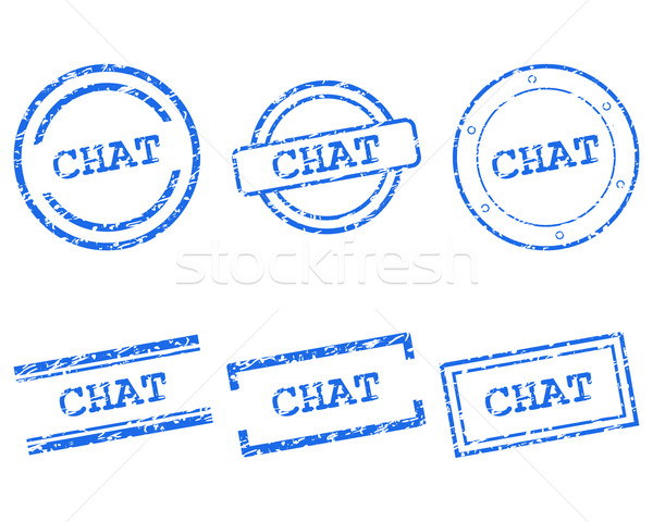 Chat stamps Stock photo © rbiedermann