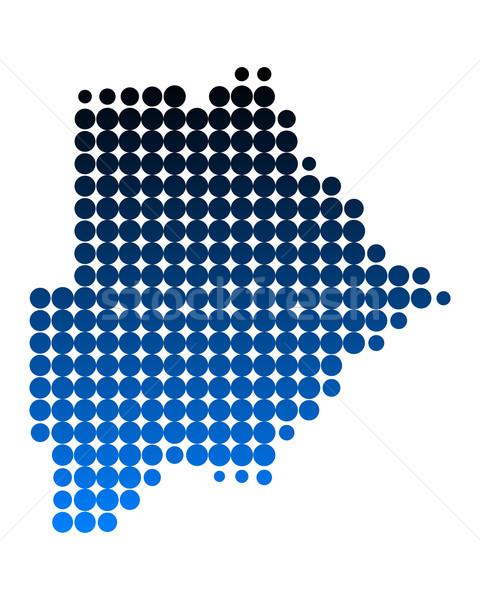 карта Ботсвана шаблон круга точки Сток-фото © rbiedermann