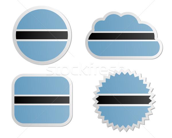 Botswana vlag papier ontwerp teken Stockfoto © rbiedermann