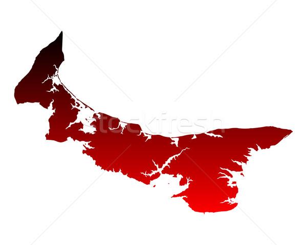 Harita prince edward adası kırmızı ada vektör yalıtılmış Stok fotoğraf © rbiedermann