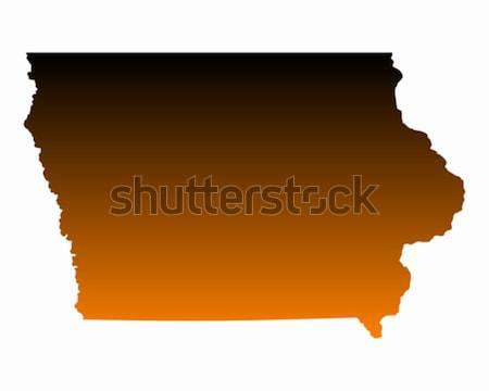 карта Айова путешествия Америки США изолированный Сток-фото © rbiedermann