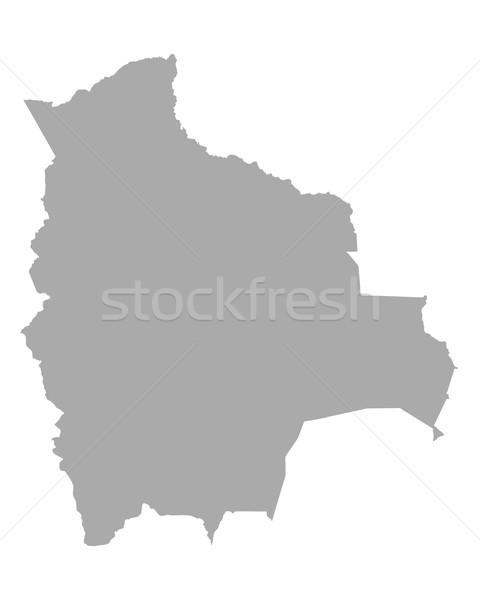 地図 ボリビア 旅行 ベクトル 孤立した グレー ストックフォト © rbiedermann