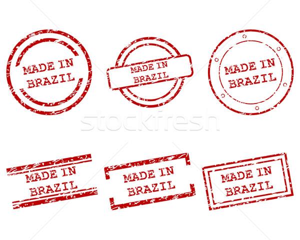 Brazylia znaczków zakupy list pieczęć graficzne Zdjęcia stock © rbiedermann
