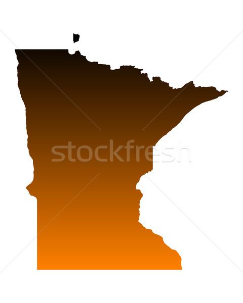 Mapa Minnesota viajar américa EUA isolado Foto stock © rbiedermann